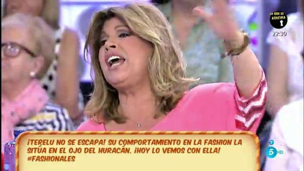 "Terelu contesta a Jorge Javier: ""Yo jamás he dicho 'si yo contara"""