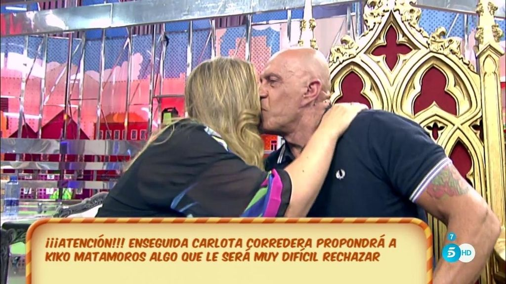 Carlota Corredera le ofrece a Kiko Matamoros ser la madrina de su boda