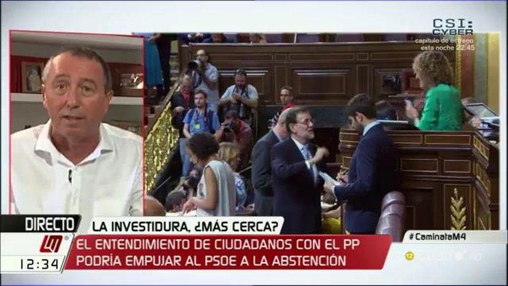 """Joan Baldoví: """"Esto está en manos de Ciudadanos y del PSOE"""""""