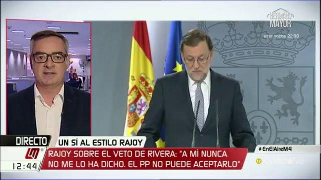"""J. M. Villegas: """"Ciudadanos ya ha puesto su grano de arena pasando del 'no' a la abstención"""""""