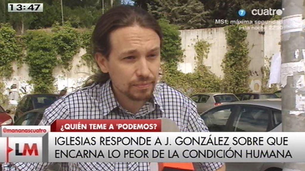 """P. Iglesias, de Jaime González: """"Me parece muy triste que se reduzca hasta ese nivel"""""""