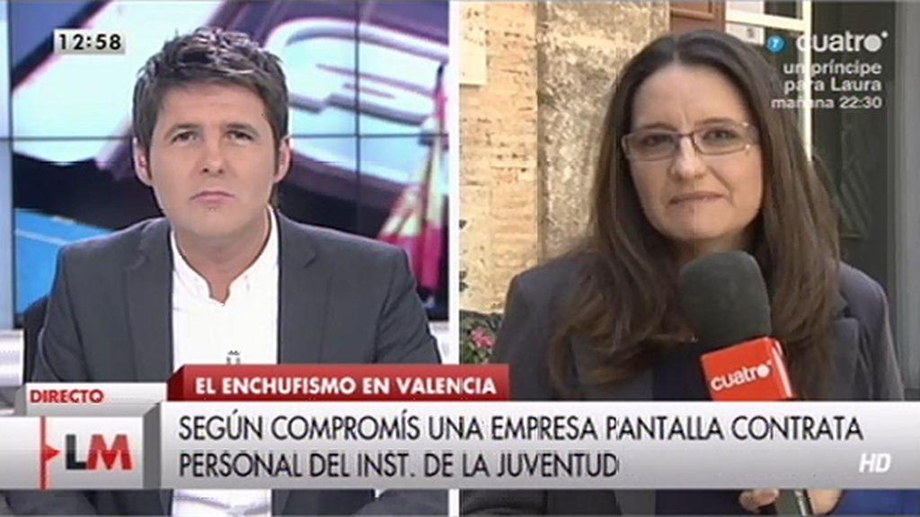 """Mónica Oltra, diputada de Compromís: """"Es un caso claro de enchufismo"""""""