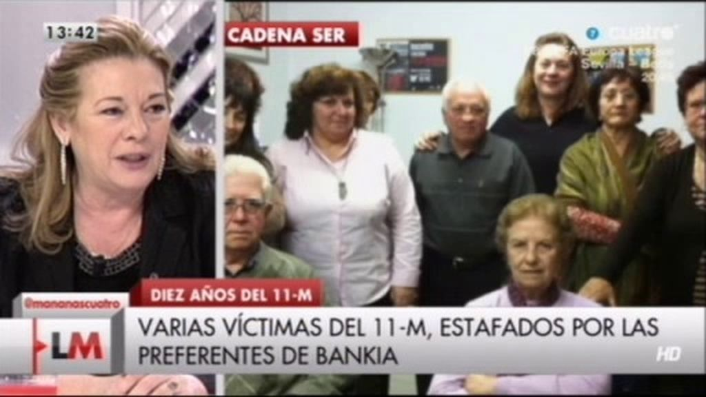 Pilar Manjón explica como hay víctimas del 11-M estafados con las preferentes