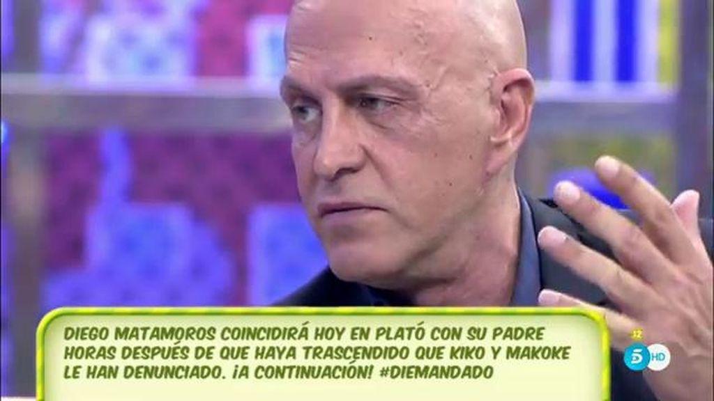 """Kiko Matamoros, de su hijo: """"La pelota está en el tejado de Diego"""""""