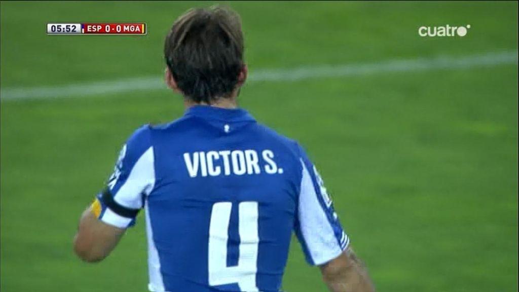 Kameni salva el primero del Espanyol tras una gran jugada individual de Víctor Sánchez
