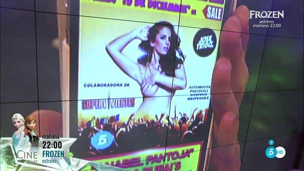 Anabel Pantoja se publicita en un cartel de la manera más exuberante