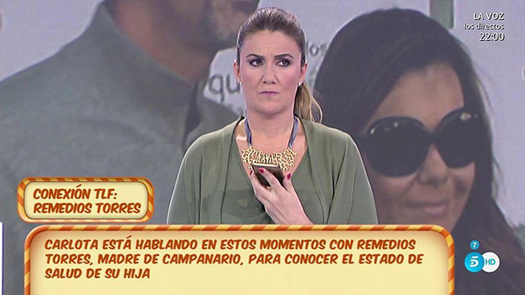 """Remedios Torres, sobre el ingreso de Campanario: """"Ha sido una inyección que se le ha infectado, está todo bien"""""""