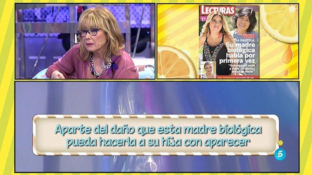 'El Confesionario de Teresa Campos' arde tras la entrevista de la madre biológica de Chabelita