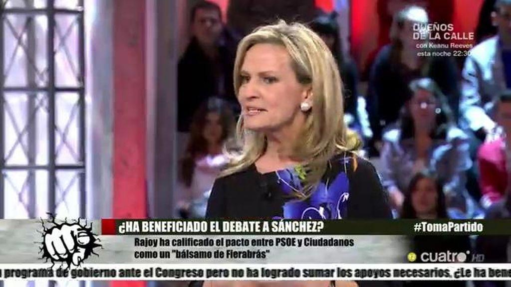 """Isabel San Sebastián: """"Rajoy y Sánchez se detestan y lo que deberían hacer es irse"""""""