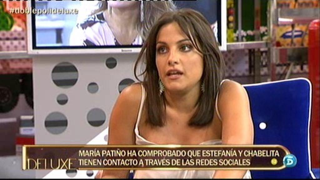 """Estefanía: """"Chabelita me siguió en Twitter y comenzamos a hablar por mensajes"""""""
