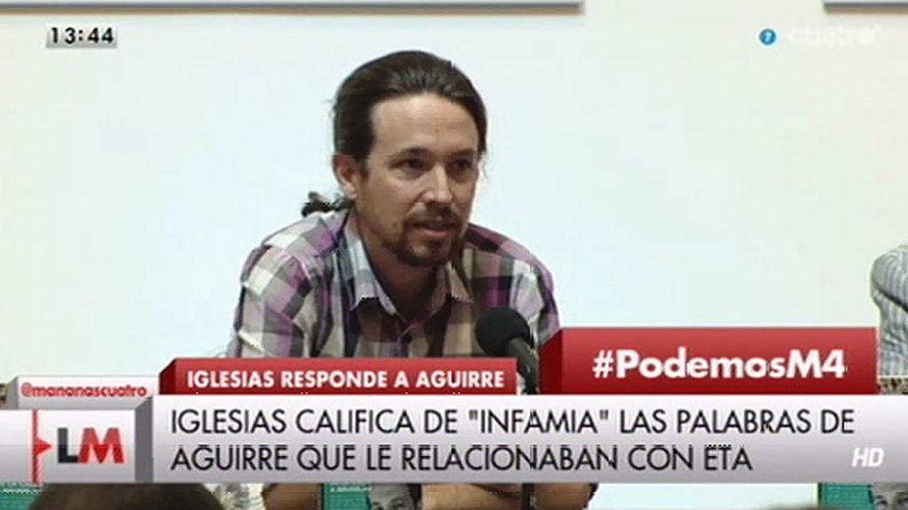 """Iglesias: """"Decir que alguien forma parte del entorno del terrorismo es una infamia"""""""