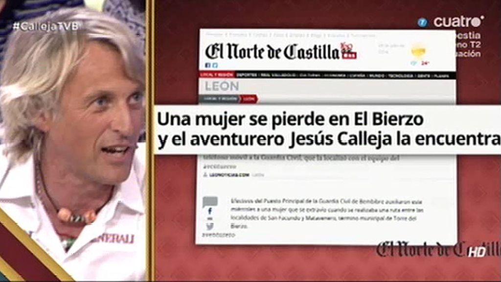 """Jesús Calleja desmiente que rescatara a una mujer perdida: """"¿Quién se lo ha inventado?"""""""