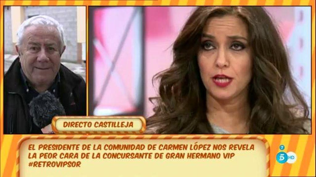 """Miguel, vecino de Carmen López: """"Que se quede en 'GH VIP' eternamente"""""""
