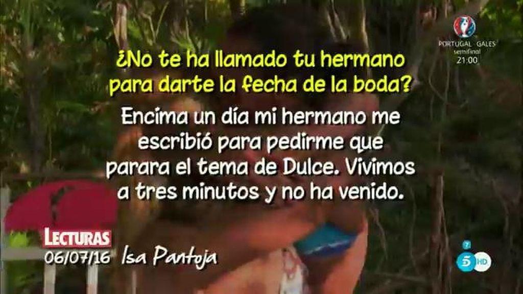 """Isa Pantoja, de Kiko Rivera: """"Vivimos a tres minutos y no ha venido"""""""