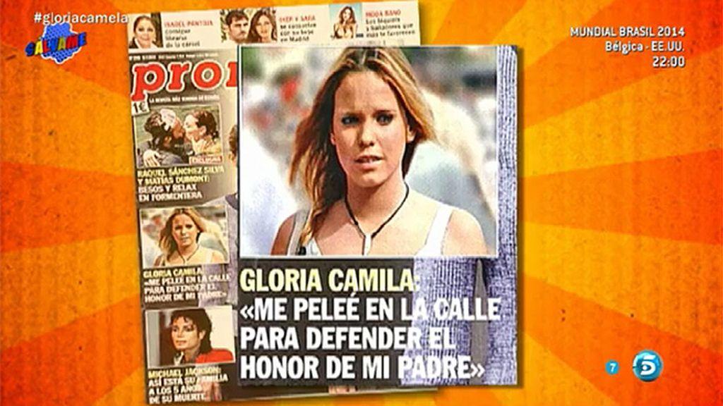"""Gloria Camila, en 'Pronto': """"Me peleé en la calle para defender el honor de mi padre"""""""