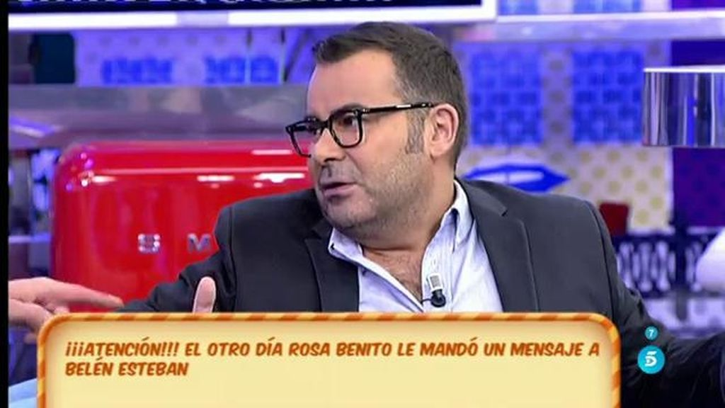 "Jorge Javier Vázquez: ""Rosa Benito me dijo que nos echa de menos"""