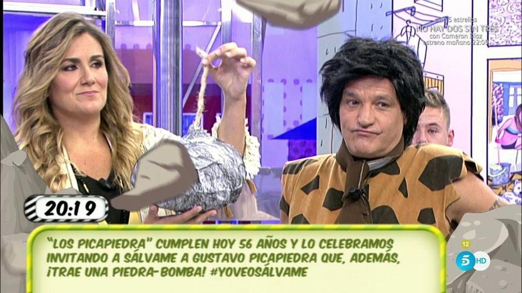 Gustavo González se ha convertido en Pedro Picapiedra con su 'piedra-bomba'