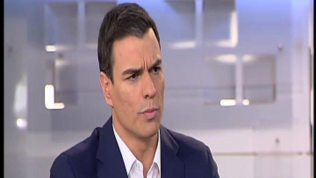 """Pedro Sánchez sobre Susana Díaz: """"Estoy convencido de que vamos a ganar y ser la primera fuerza"""""""