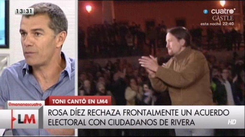 """Toni Cantó: """"Las soluciones de 'Podemos' sólo crearían más pobreza y desigualdad"""""""