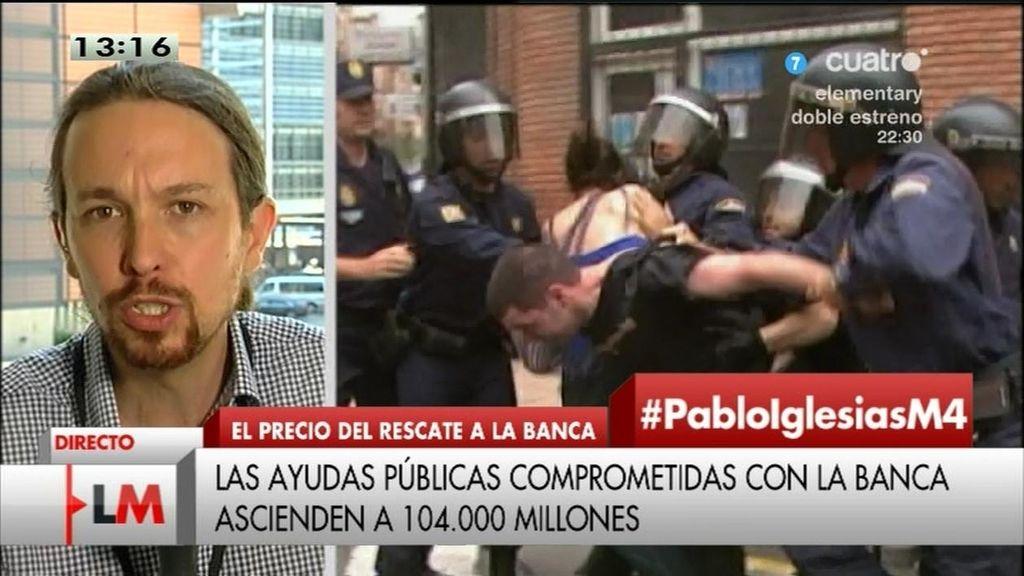 """Pablo Iglesias: """"Exigimos al Gobierno que paralice los desahucios inmediatamente"""""""