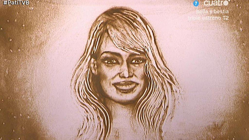 El retrato de arena de Patricia Conde