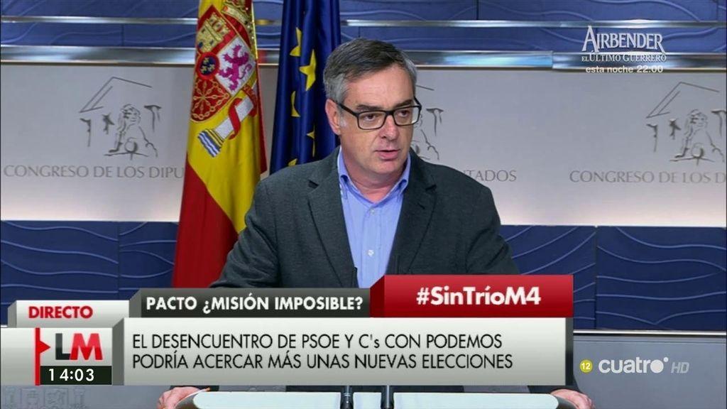 """José Manuel Villegas (C's), sobre Podemos: """"Su intención era romper ese acuerdo"""""""
