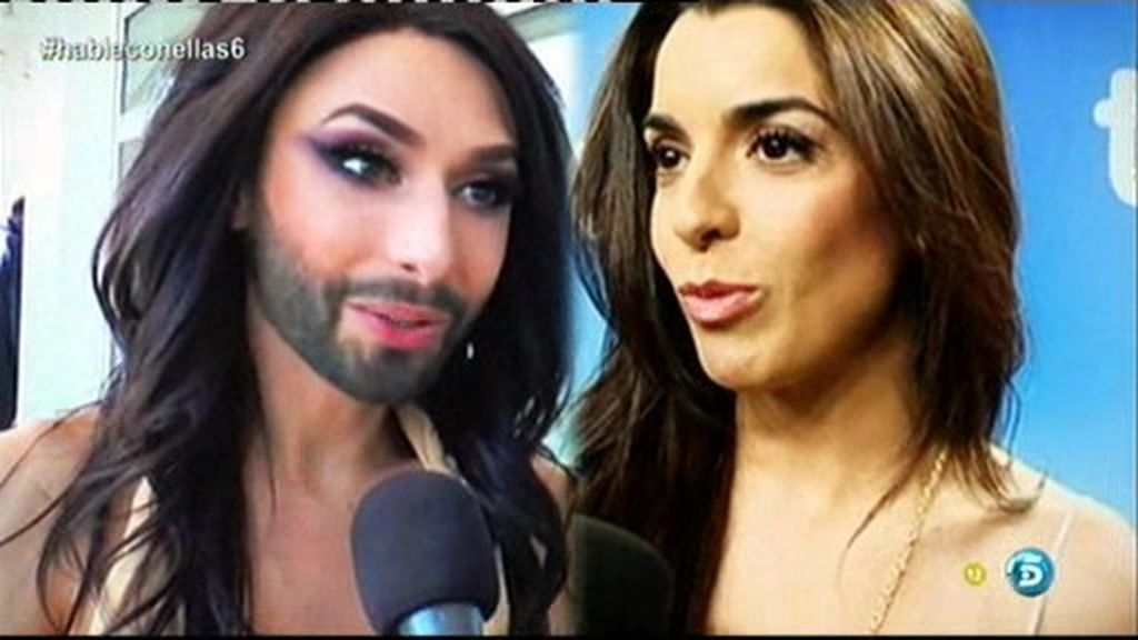 Ruth y Conchita, separadas por una barba