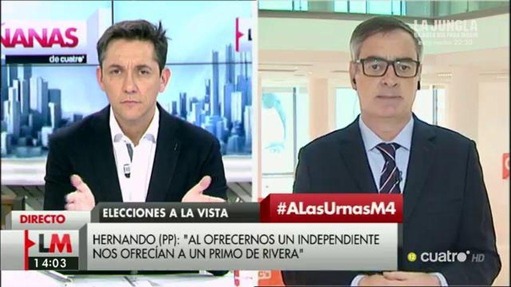 """José Manuel Villegas: """"El pacto con el PSOE era bueno, pero ahora está agotado"""""""