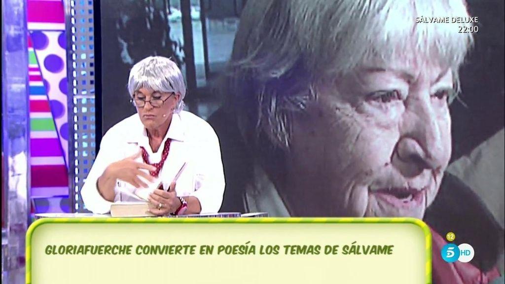 Gloriafuerche se llena de inspiración y recita un poema sobre Luis Rollán