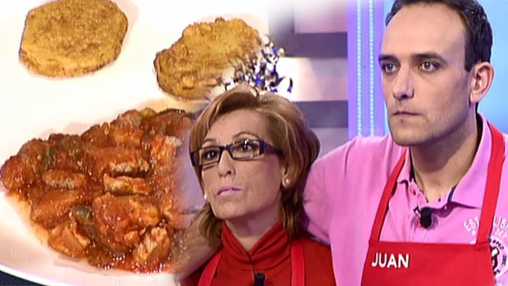 El pisto con solomillo y patatas rebozadas de Dori y Juan, es todo un éxito