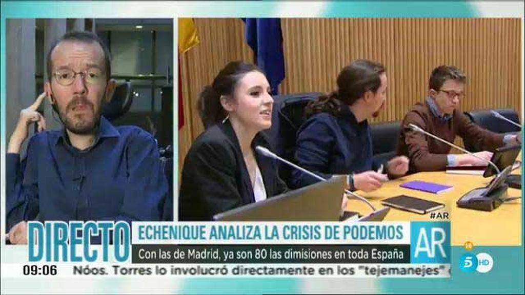 """Pablo Echenique: """"En Podemos hay debate, no hay bandos"""""""