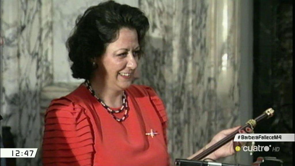 Así fue la trayectoria política de Rita Barberá