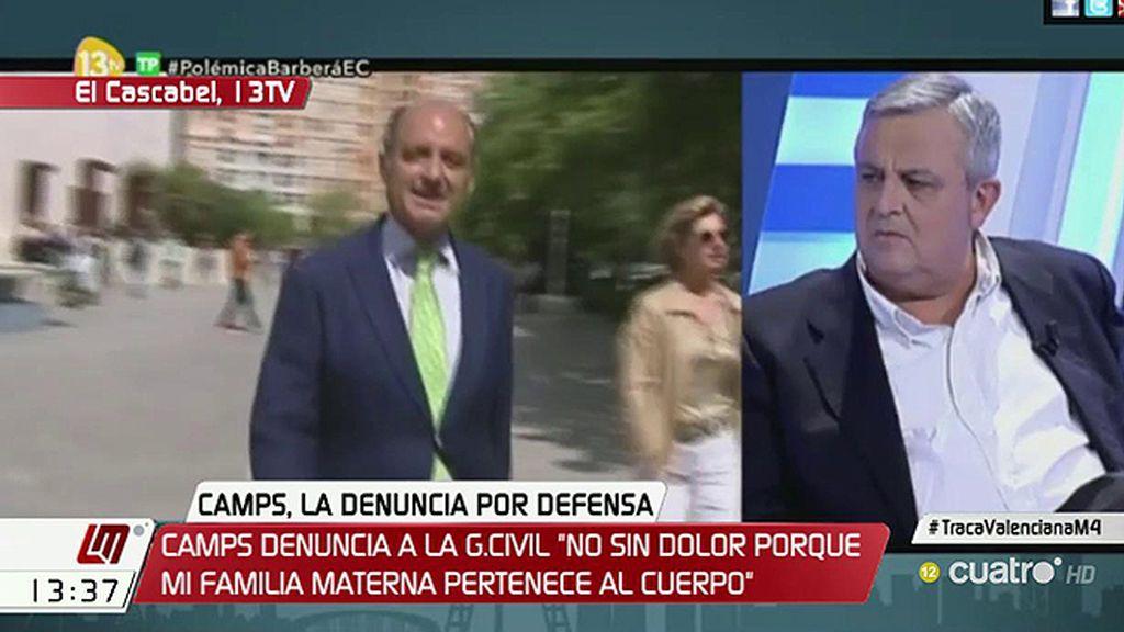 """Francisco Camps denuncia a la Guardia Civil: """"Me siento perseguido y señalado"""""""