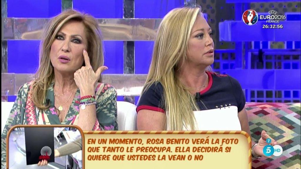 """Belén Esteban cree que Rosa Benito tiene """"pelusilla"""" de ella"""