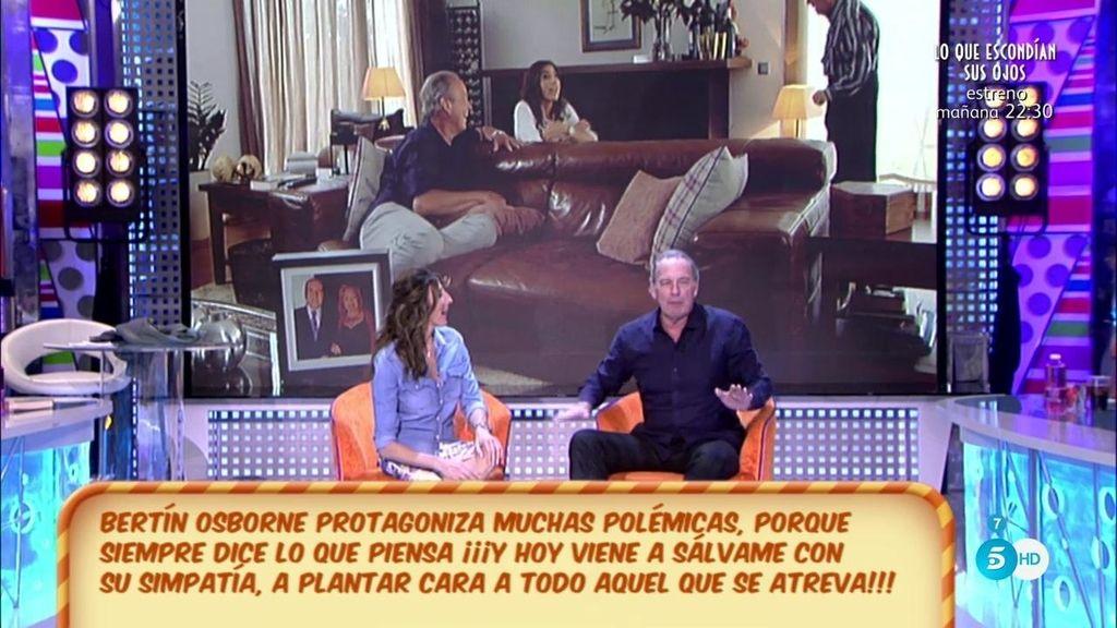 Bertín revoluciona el plató y habla de todo: de su disco, de su futura casa, del programa...