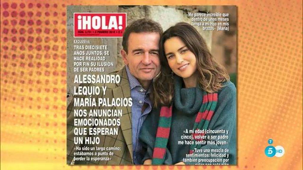 Lequio y María Palacios anuncian en '¡Hola!' que esperan su primer hijo en común