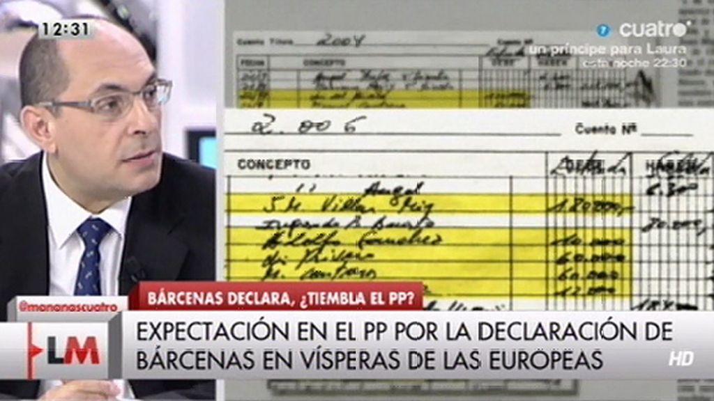 """E. Silva, sobre Bárcenas: """"Son indicios importantes de blanqueo de capitales"""""""