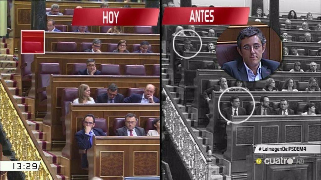 El baile de las sillas en la bancada del PSOE