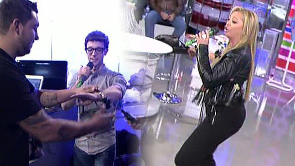 Belén Esteban y Escaleto, cantan con los calambrazos de 'Killer Karaoke'