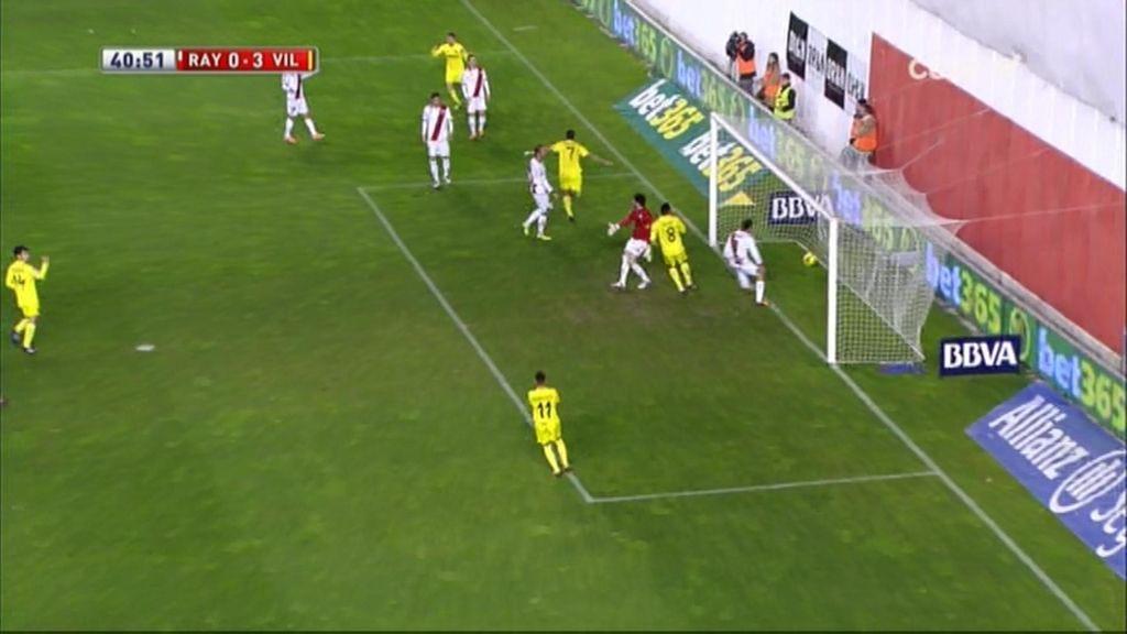 Gol de Perbet (Rayo 0-3 Villarreal)