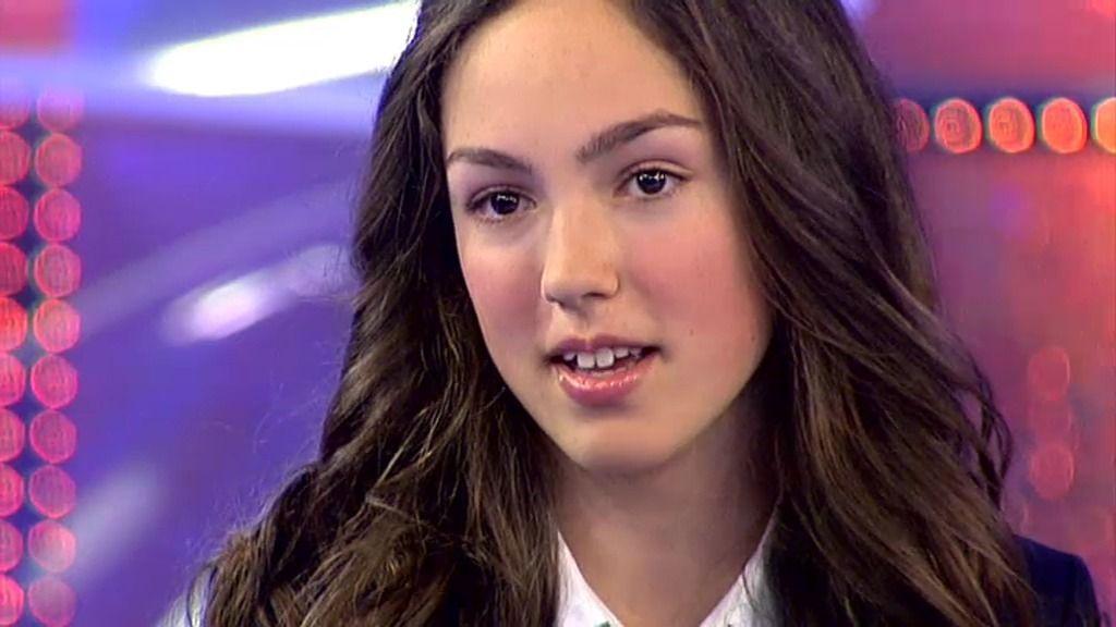 """María: """"Desde pequeña me ha gustado cantar y bailar"""""""