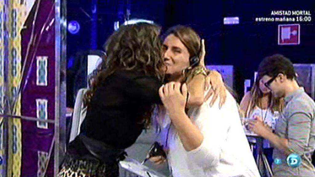 Paz Padilla felicita a Carlota Corredera por su papel como presentadora el pasado lunes