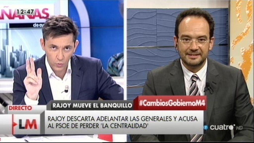 """Hernando: """"Rajoy va a poner una tirita electoral, pero no detendrá la hemorragia del PP"""""""