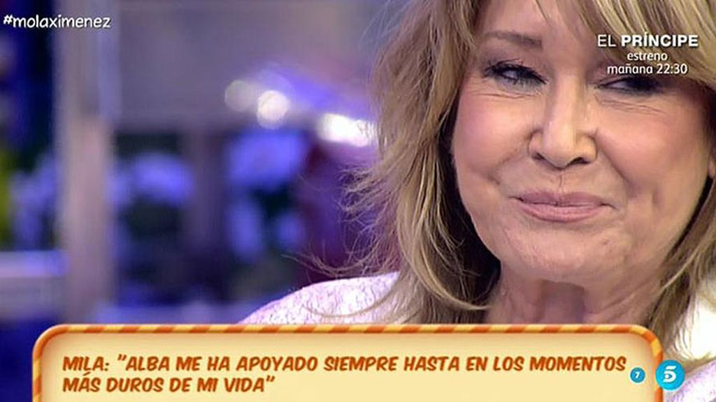 """Mila Ximénez, emocionada: """"Sin Alba no habría superado este desierto"""""""