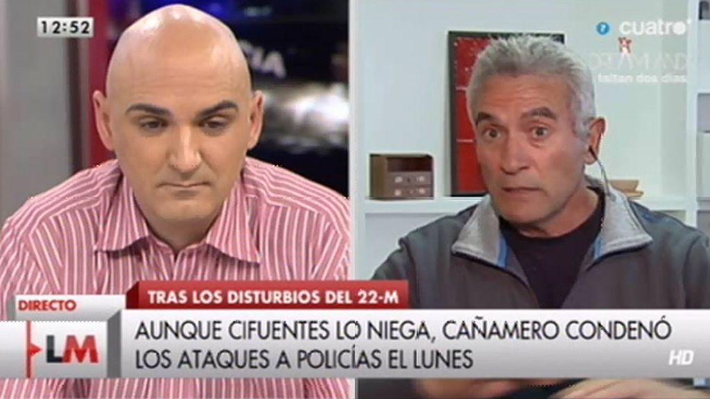 """Diego Cañamero, a Serafín Giraldo: """"No se puede ser tan chapucero"""""""