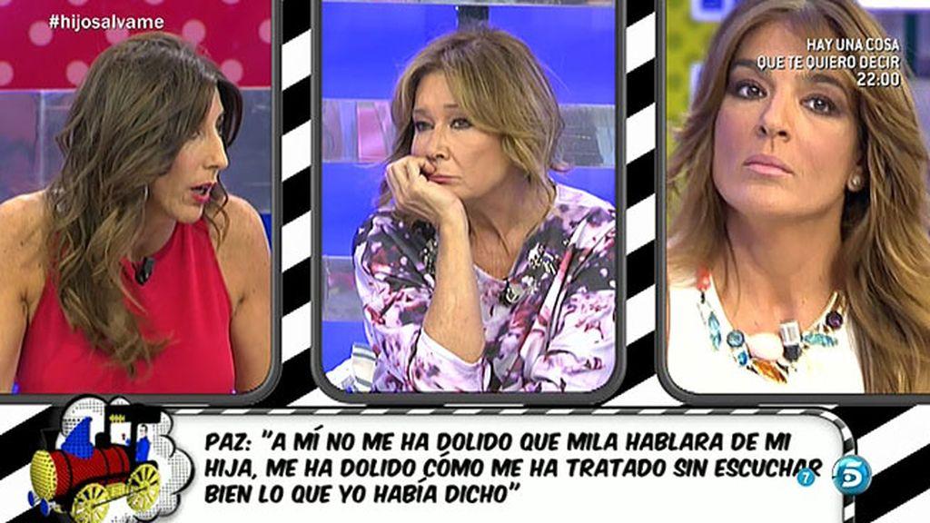 """Raquel Bollo, a Paz y Mila: """"Mi hijo no lo he cagado, lo he parido como vosotras"""""""
