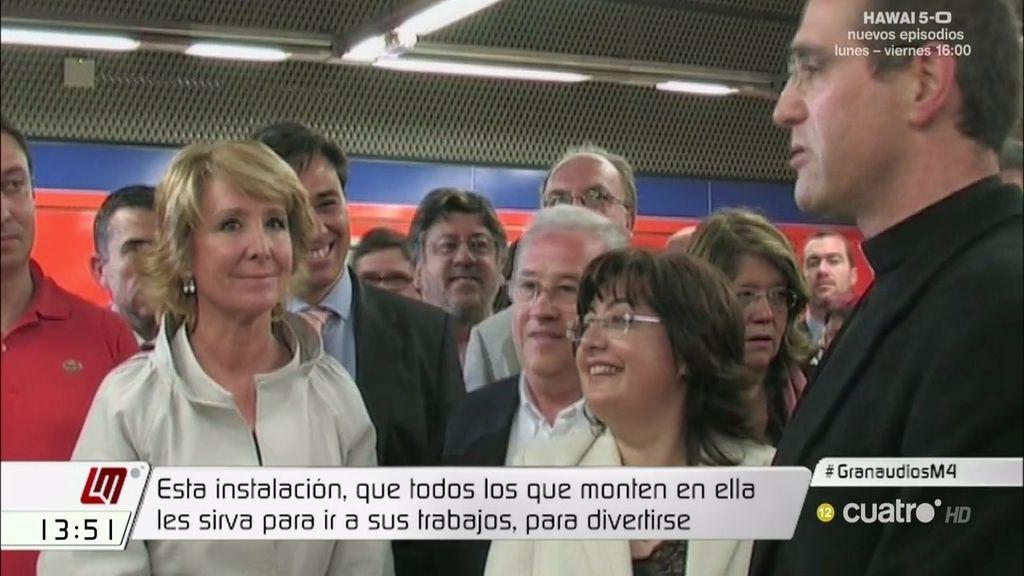 La Guardia Civil investiga las inauguraciones del metro de Esperanza Aguirre