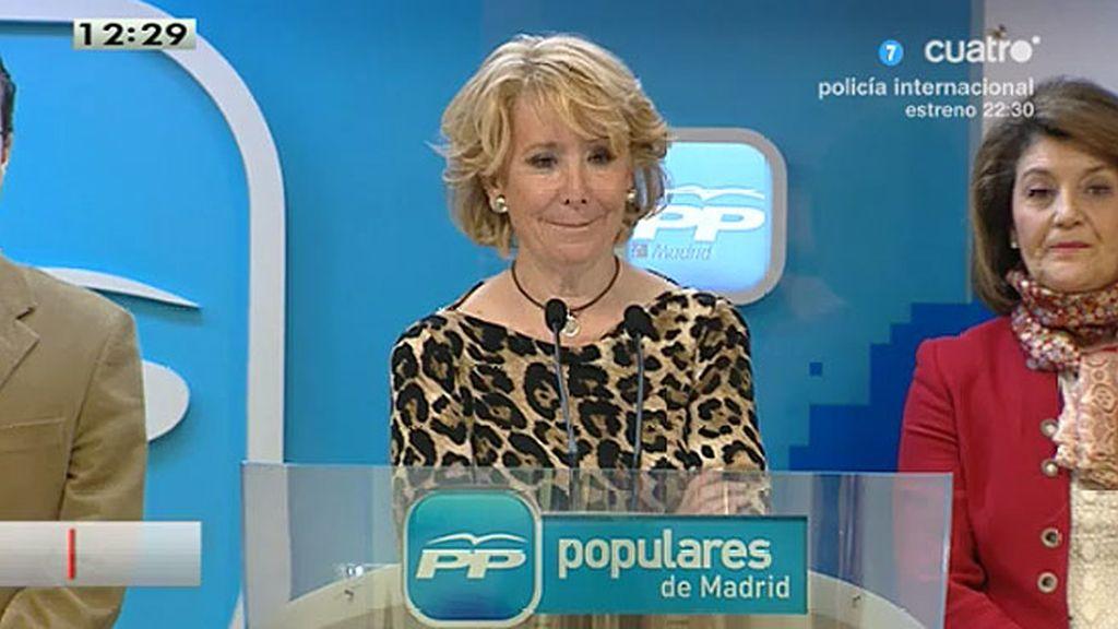 """Aguirre, sobre las 'intrigas': """"No lo he oído pero si Cospedal lo dice, será así"""""""