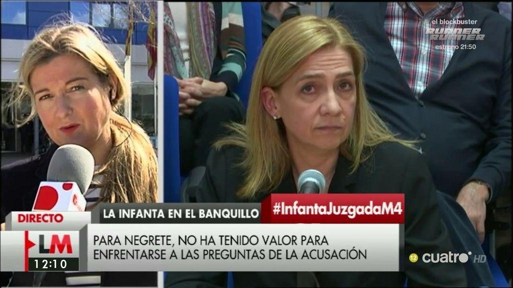 """V. López Negrete, de la Infanta: """"Creo que lo que tuvo es un interrogatorio a la carta"""""""