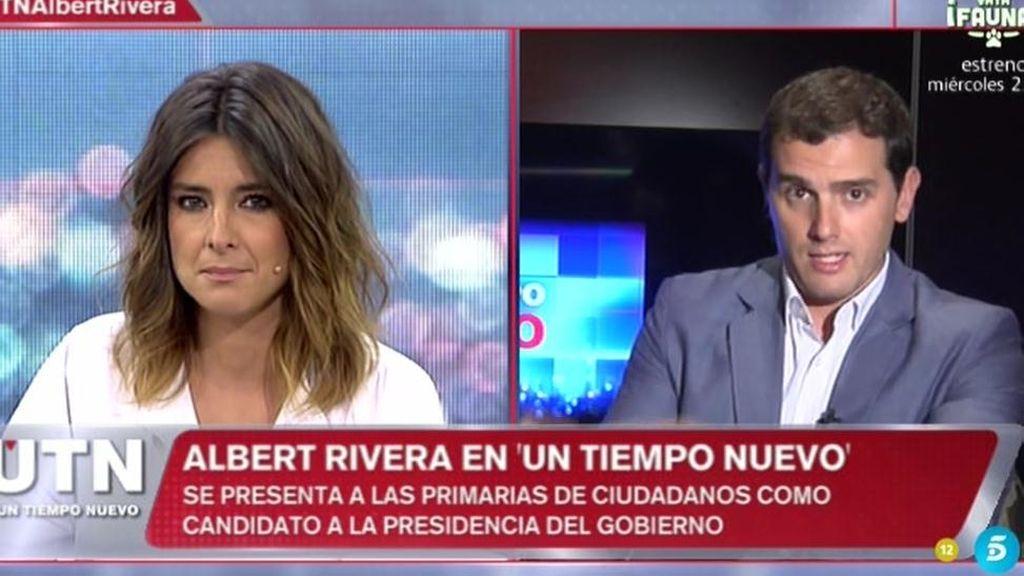 """Albert Rivera: """"No quiero que mi hija viva en un país donde haya corrupción"""""""